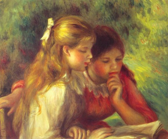 """Reading"" – Auguste Renoir (1890-1895)"
