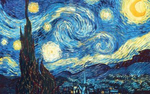 """The Starry Night"" by Vincent van Gogh, 1889. (Because.)"